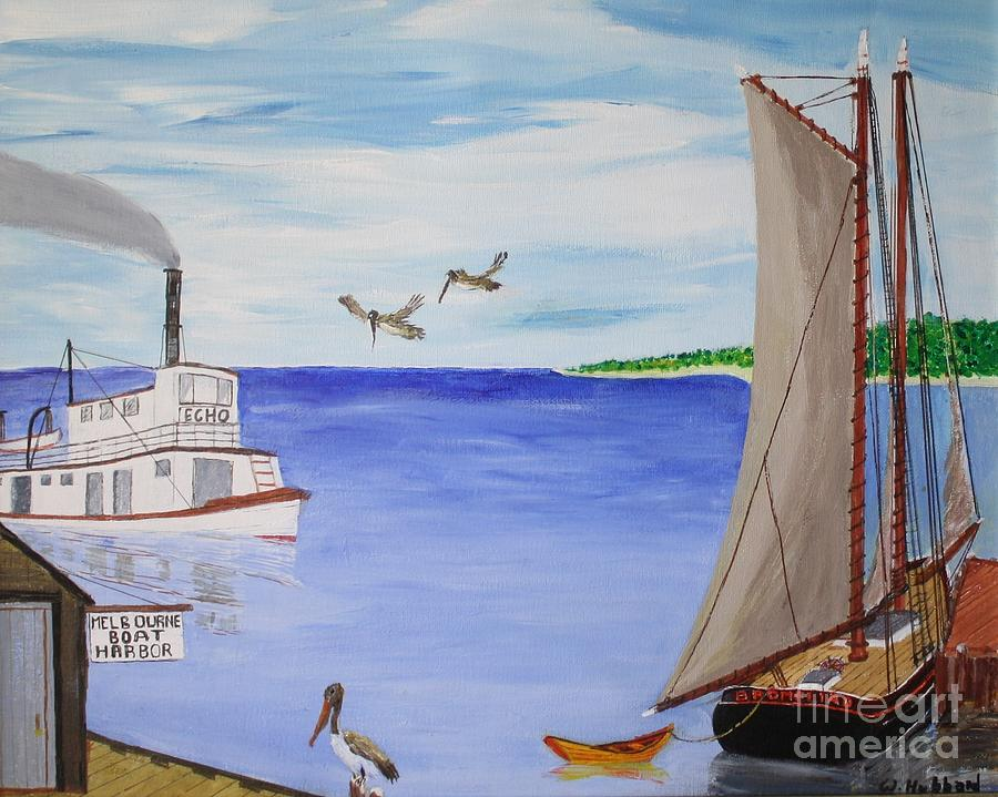 Melbourne Florida Painting - Indian River Commerce-1900 by Bill Hubbard