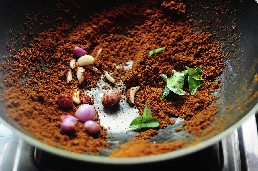 Indian Spices Roasting In Pan Photograph by Nags . Edible Garden