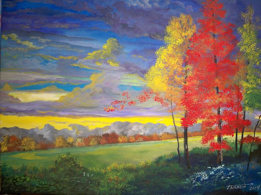 Indian Summer Painting By Dave Farrow