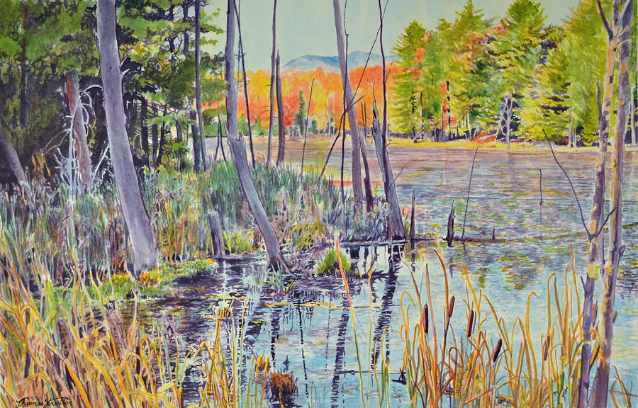 Bog Painting - Indian Summer by Thomas Stratton
