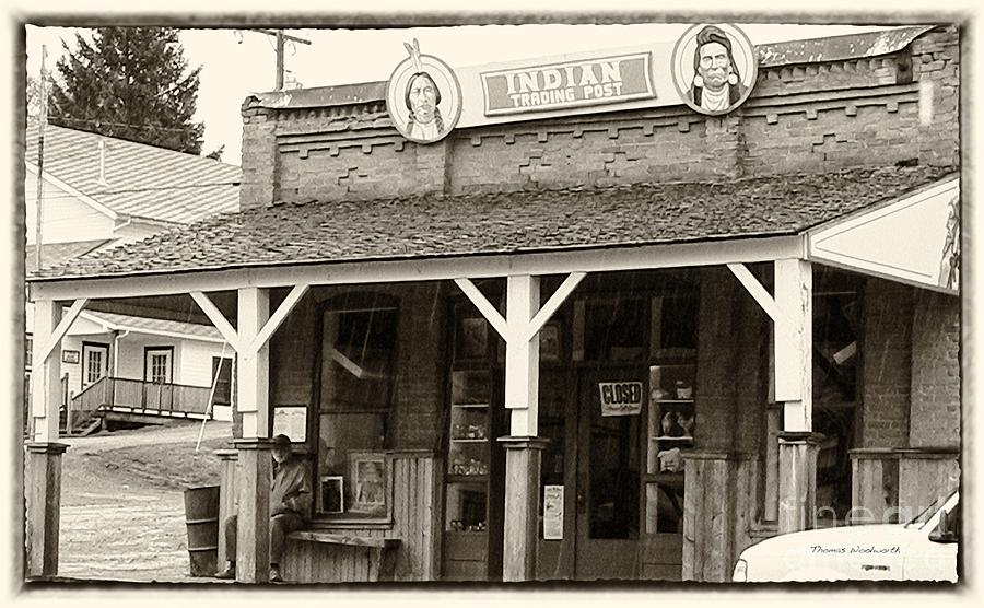 Antique Photograph - Indian Trading Post Virginia City Montana 02 by Thomas Woolworth