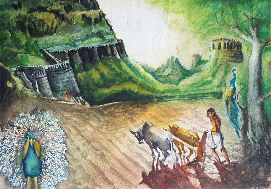 Indian Village Life - 11 Painting - 155.1KB