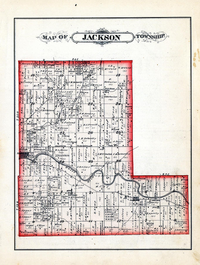 Indiana 1880 Jackson Township Jackson Madison County By Historic