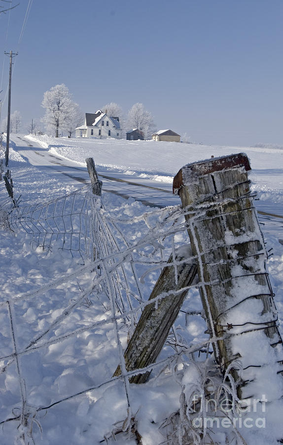 Seasons Photograph - Indiana Farm by Jim West