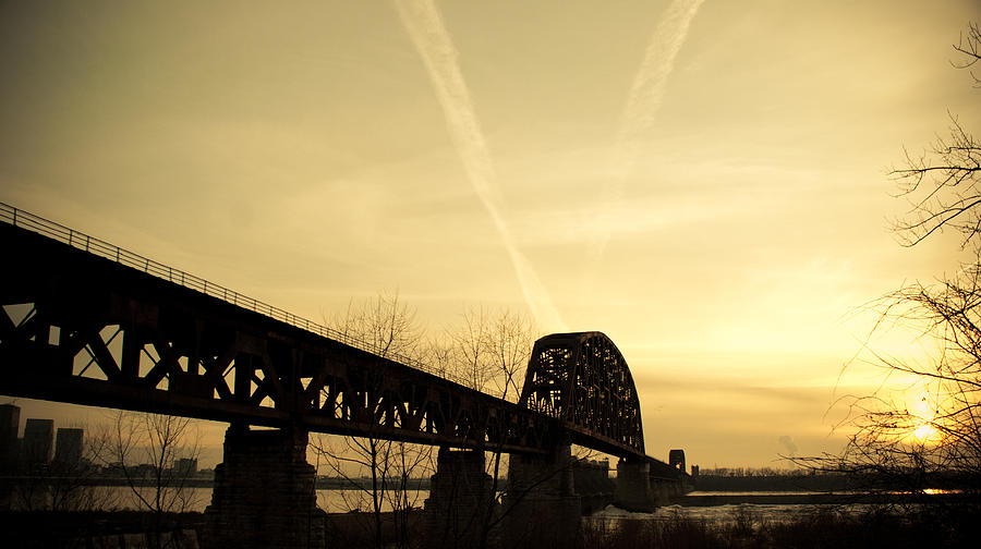 Jeffersonville Photograph - Indiana Ky Bridge by Off The Beaten Path Photography - Andrew Alexander