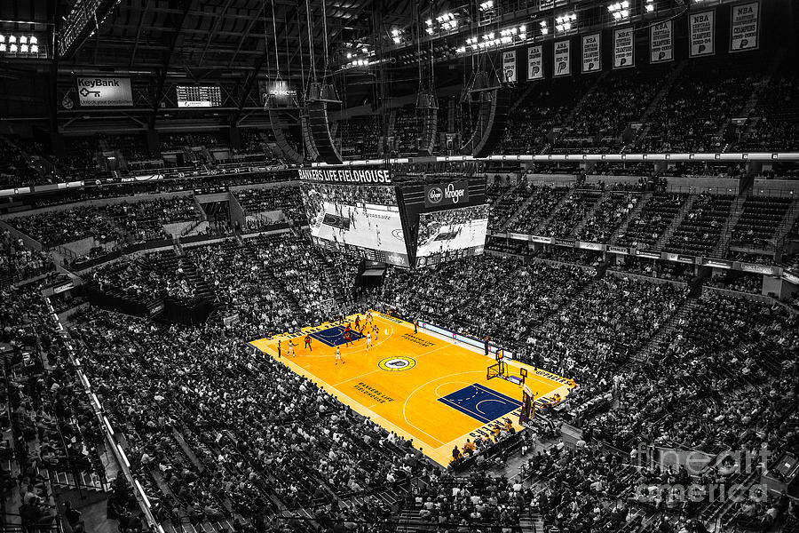 Banker's Life Photograph - Indiana Pacers Special by David Haskett