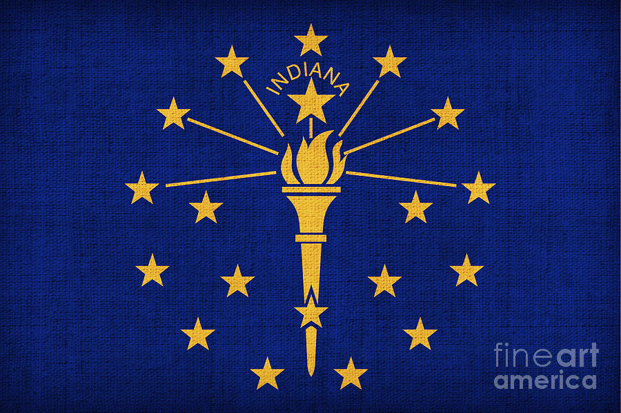 Indiana Painting - Indiana State Flag by Pixel Chimp
