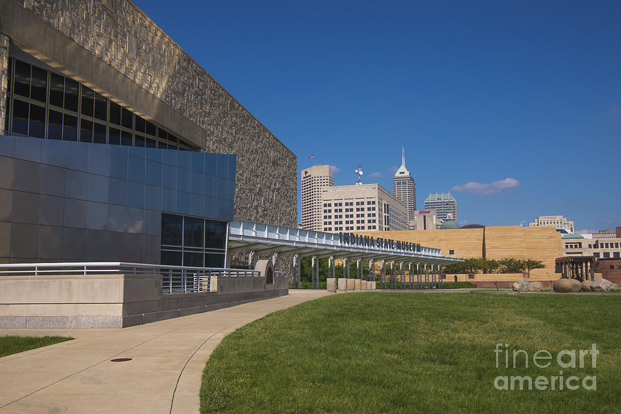 Indy 500 Photograph - Indiana State Museum And Indianapolis Skyline by David Haskett