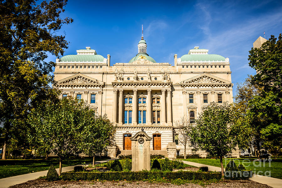 America Photograph - Indiana Statehouse State Capital Building Picture by Paul Velgos