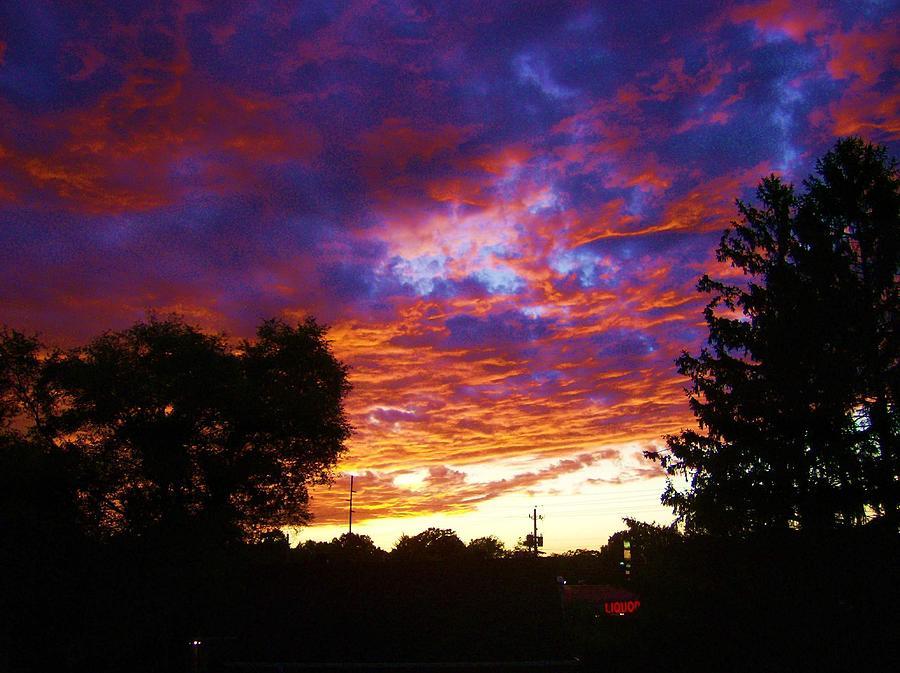 Landscape Digital Art - Indiana Sunset by P Dwain Morris