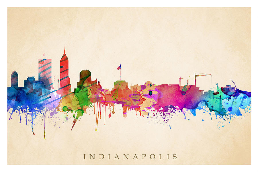 Indianapolis cityscape digital art by steve will for Indianapolis painting company