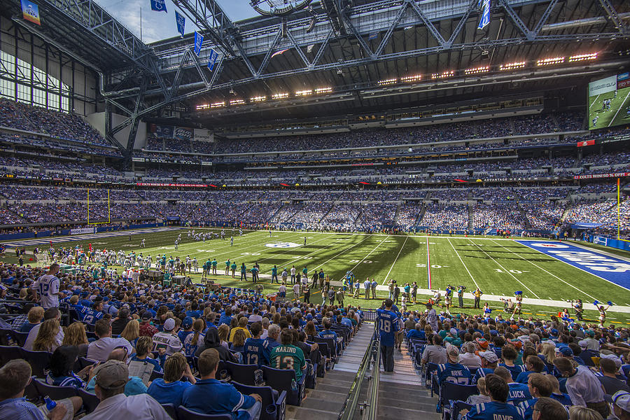 Indianapolis Colts Lucas Oil Stadium 3241 Photograph By David Haskett Ii