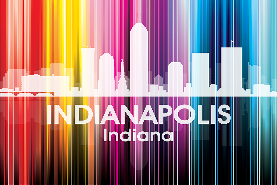 Indianapolis Mixed Media - Indianapolis In 2 by Angelina Tamez