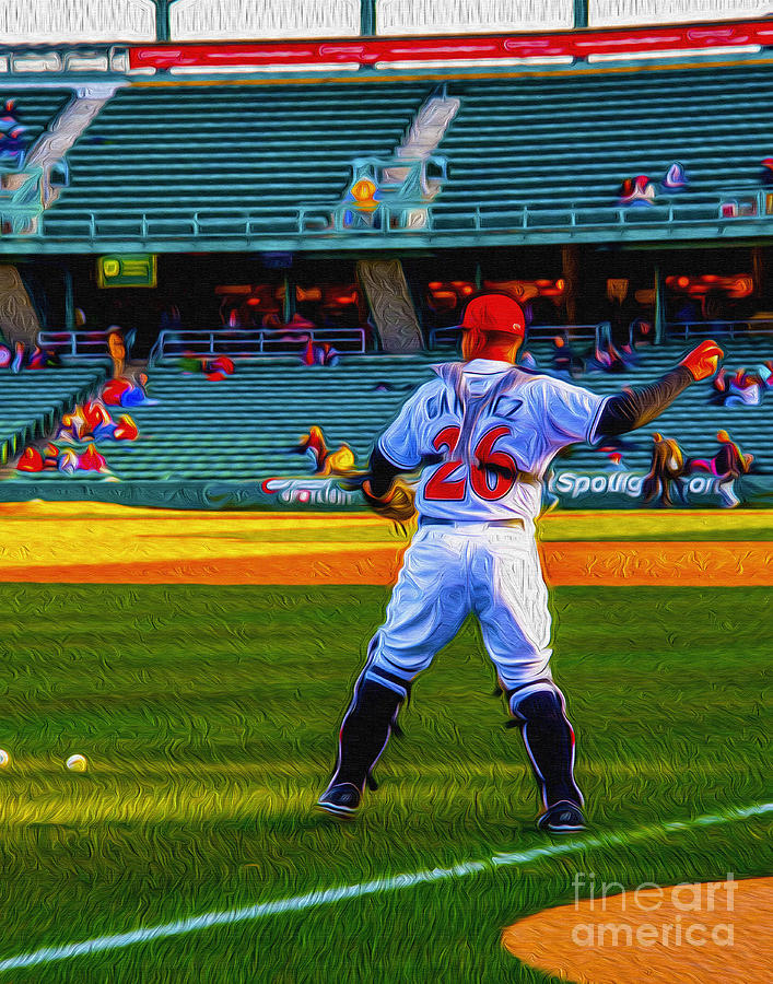 Victory Field Photograph - Indianapolis Indians Catcher by David Haskett