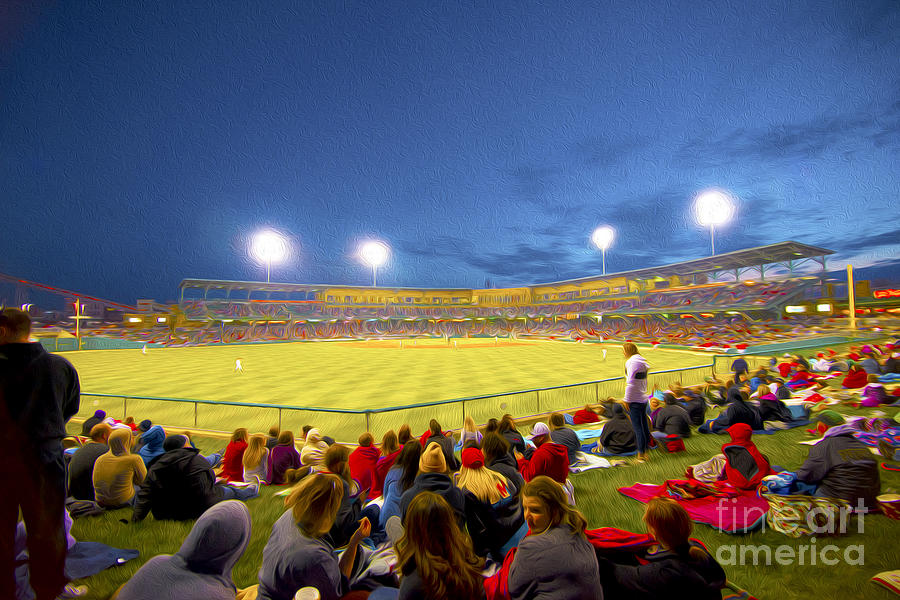 Victory Field Photograph - Indianapolis Indians by David Haskett