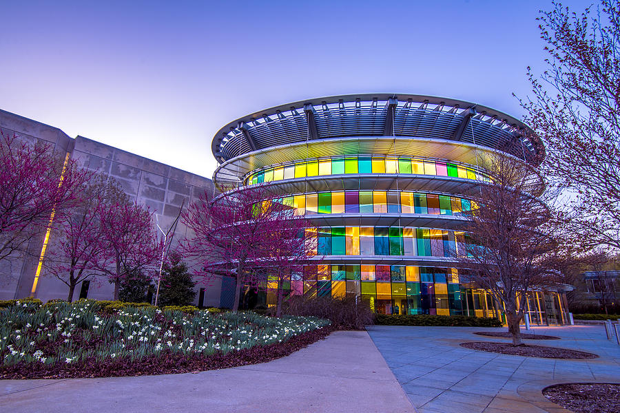 Indiana Photograph - Indianapolis Museum Of Art Blue Hour Lights by David Haskett