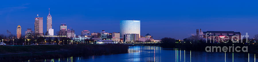 Indianapolis Photograph - Indianapolis Skyline by Twenty Two North Photography