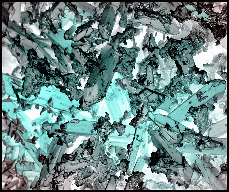 Indicolite Corrosion Crystals, Inverted Photograph by Sheri Neva