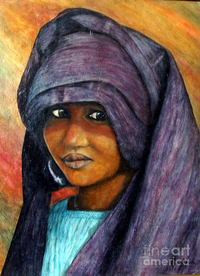 Girl Painting - Indigo Girl by Joey Nash