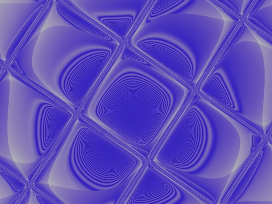 Geometric Digital Art - Indigo Petals Morphed by Pharris Art