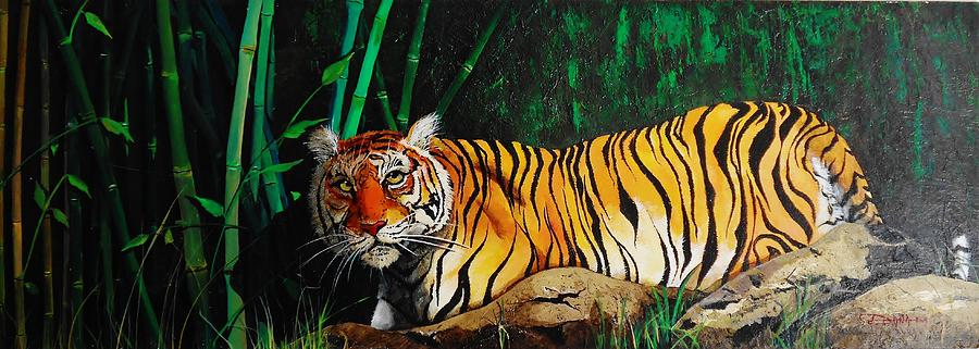 Animals Painting - Indochinese Tiger by Dana Newman
