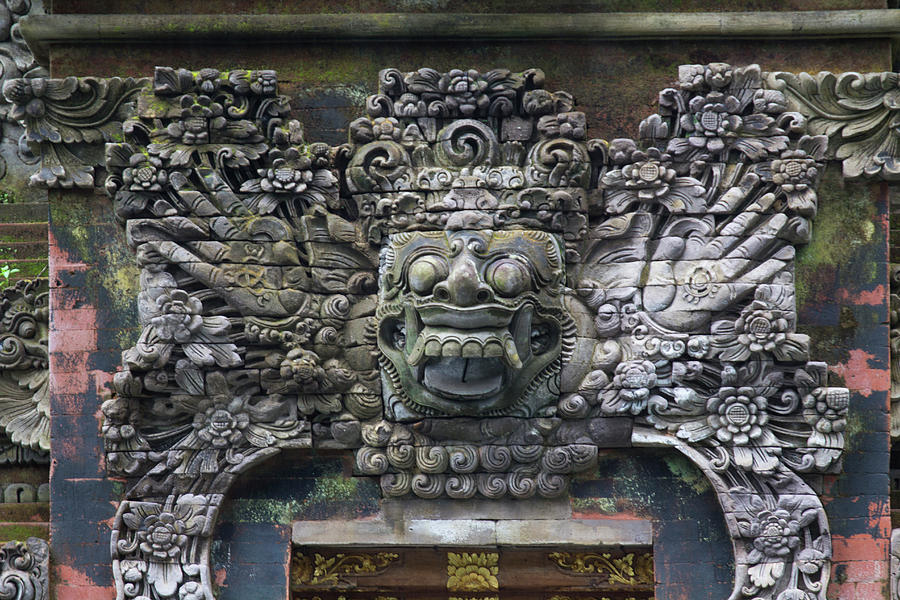 Indonesia bali balinese stone carving photograph by emily wilson