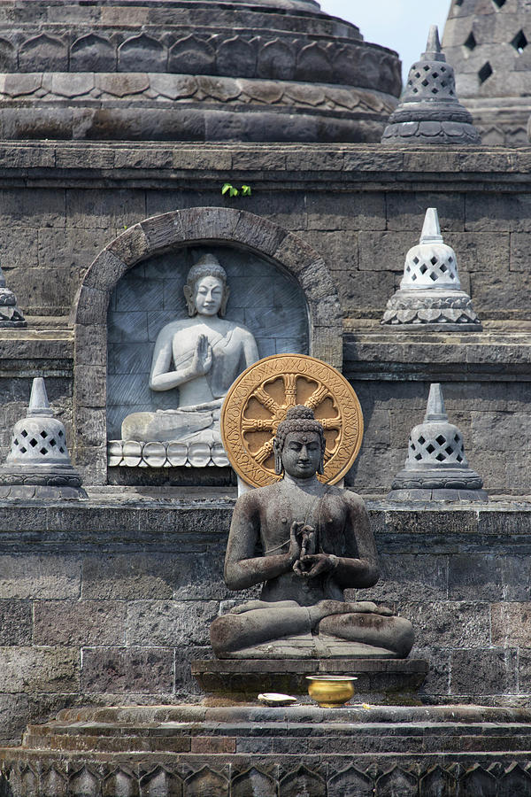 Indonesia, Bali, Temple Carvings Photograph by Michele Falzone