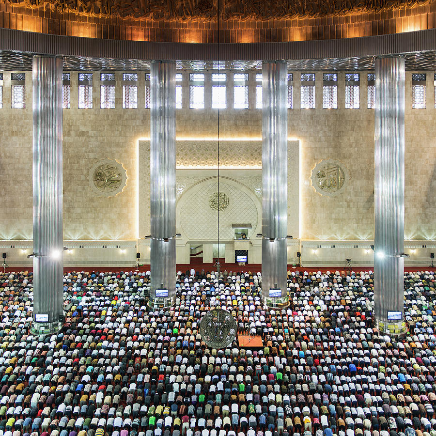 Indonesia, Jakarta, Instiqal Mosque Photograph by Martin Puddy