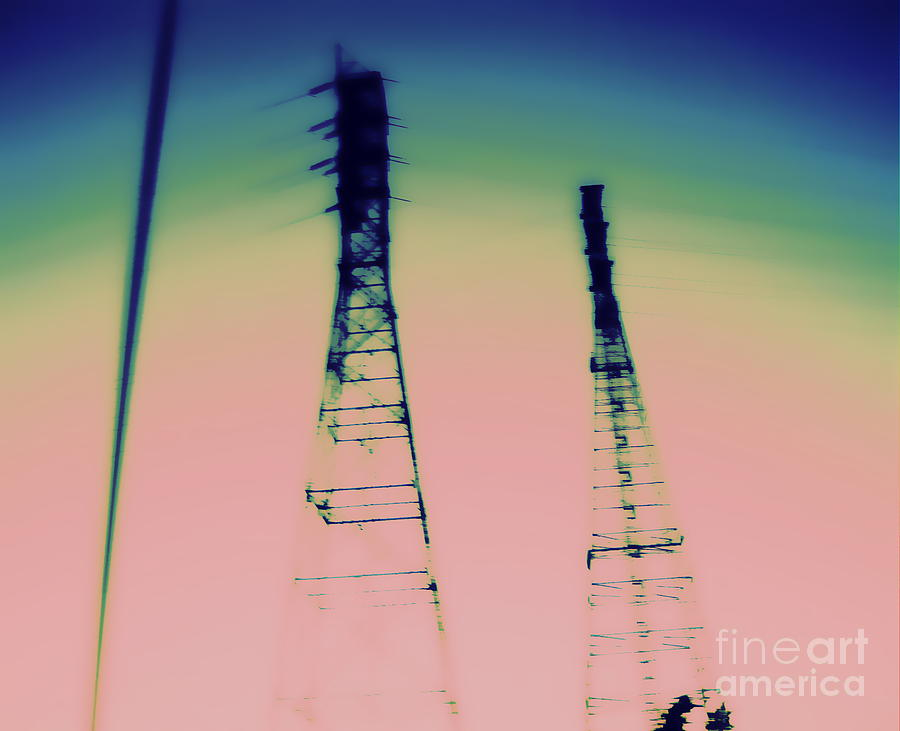 Power Lines Photograph - Industrial by A K Dayton