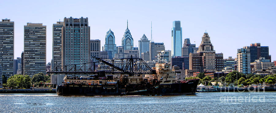 Trailing Photograph - Industrial Philadelphia by Olivier Le Queinec
