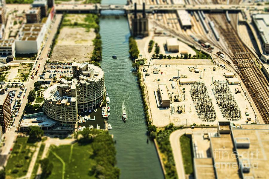 Chicago Photograph - Industrial Riverside by Andrew Paranavitana