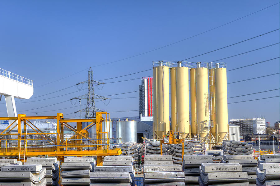 Activity Photograph - Industrial Scene With Concrete by Fizzy Image