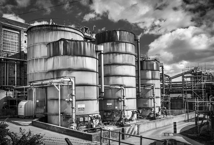 Industrial Photograph - Industrial Silos. by Gary Gillette