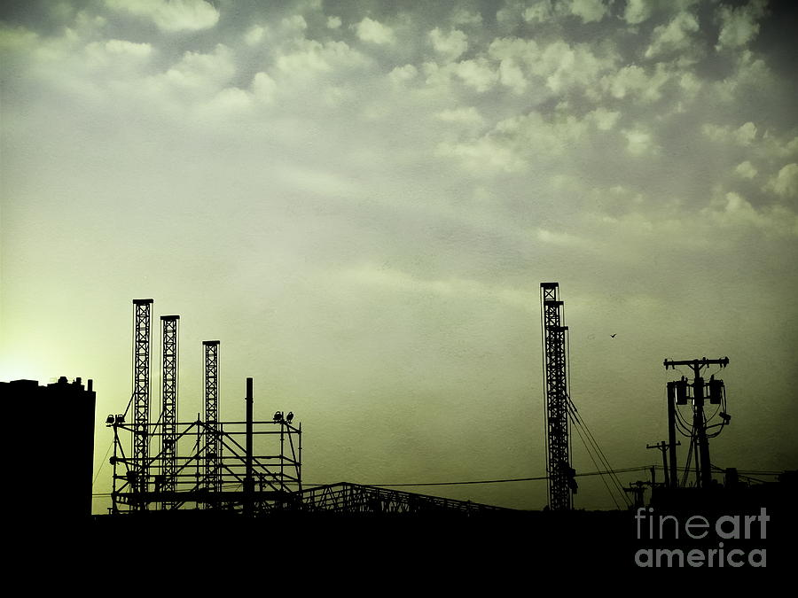 Industrial Photograph - Industrial Sky by Colleen Kammerer