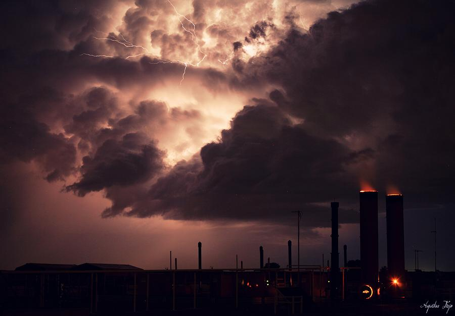 Industrial Park Photograph - Industrial Spark II by Augustina Trejo