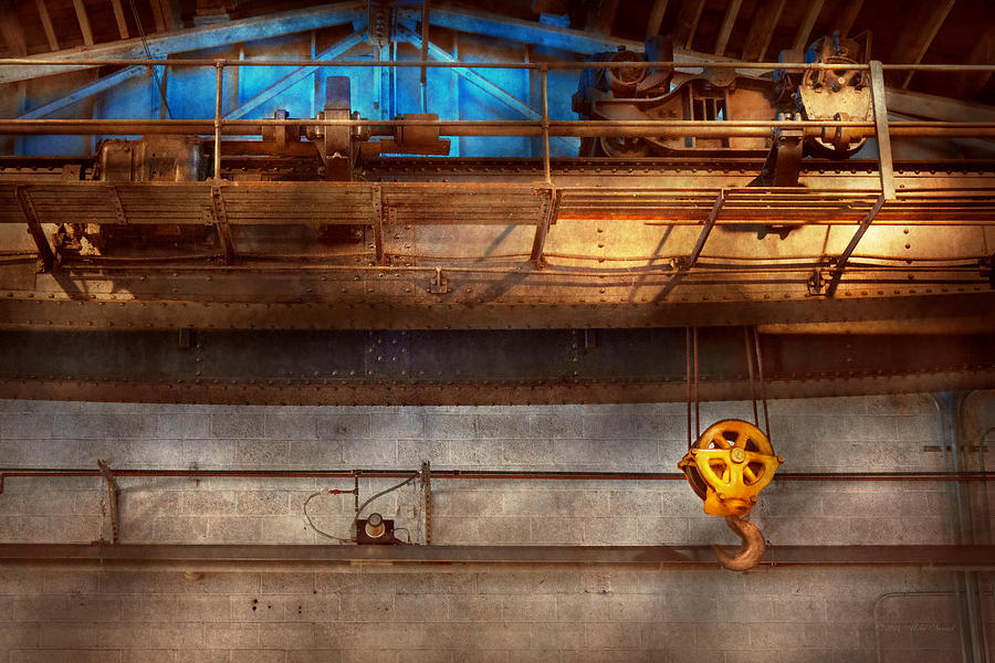 Steampunk Photograph - Industrial - The Gantry Crane by Mike Savad