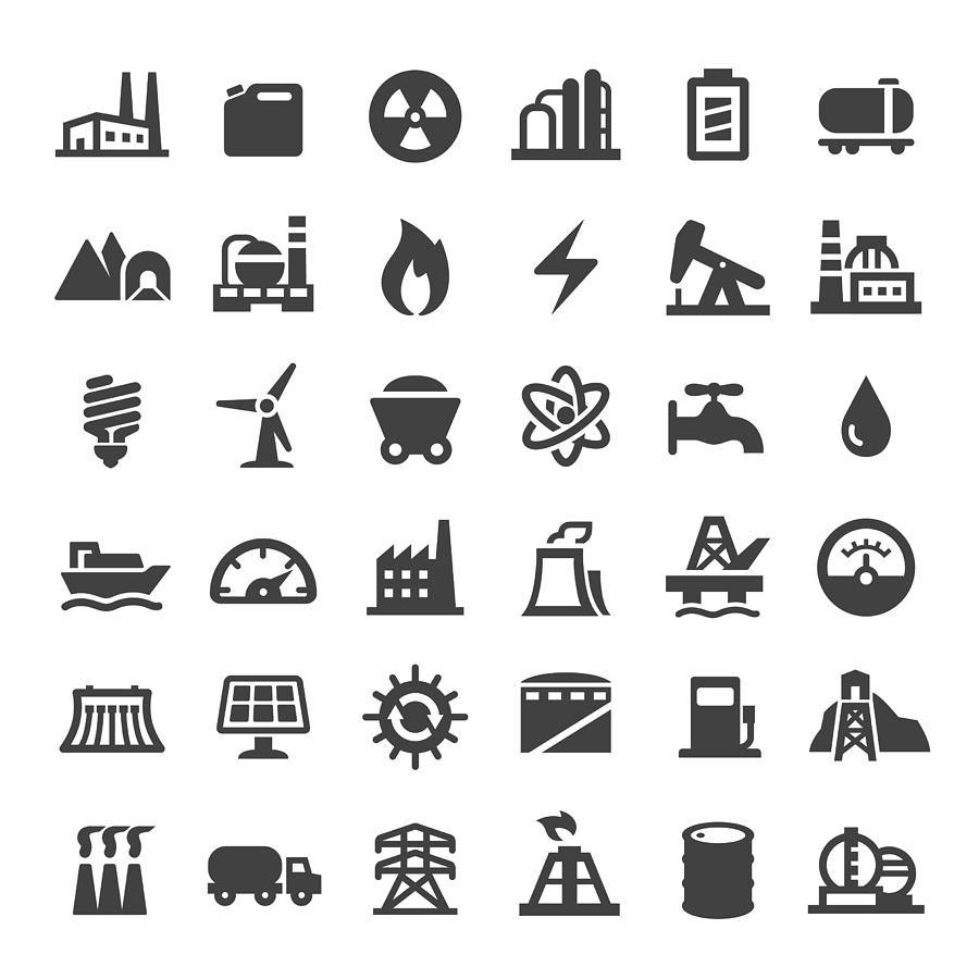 Industry Icons - Big Series Drawing by -victor-