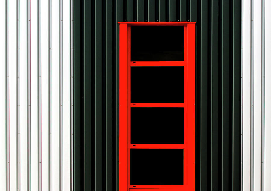 Red Photograph - Industry Parc by Hans-wolfgang Hawerkamp