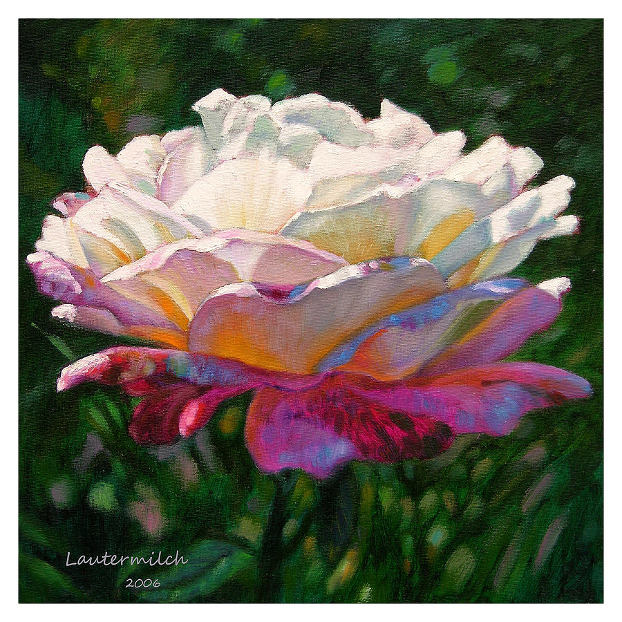 Rose Painting - Indwelling Light by John Lautermilch