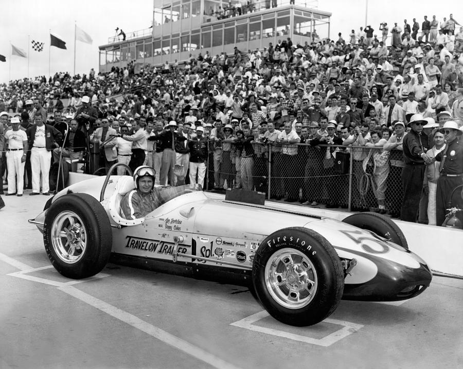 1950s Photograph - Indy 500 Race Car by Underwood Archives