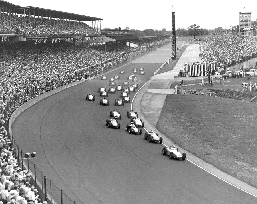 1950's Photograph - Indy 500 Race Start by Underwood Archives