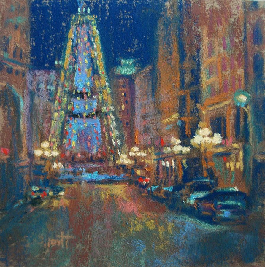 Indianapolis Painting - Indy Circle Christmas by Donna Shortt