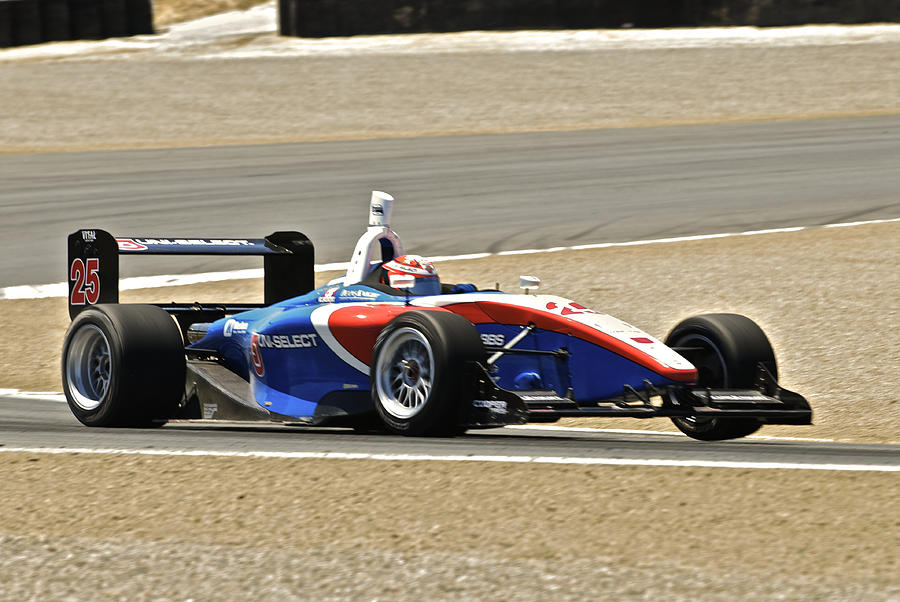 Auto Photograph - Indy Red White And Blue by Dave Koontz