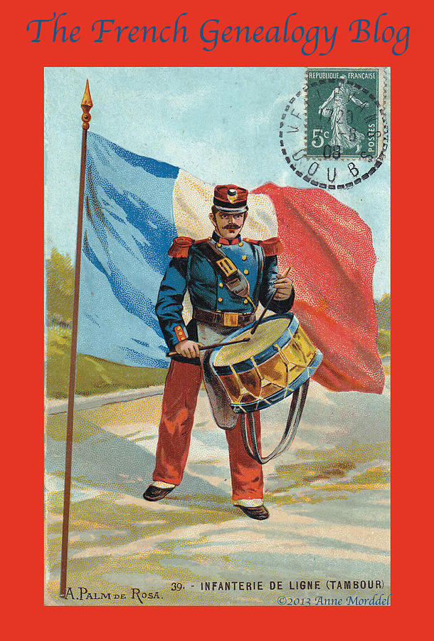 France Photograph - Infantry Of The Line Drummer With Fgb Border by A Morddel