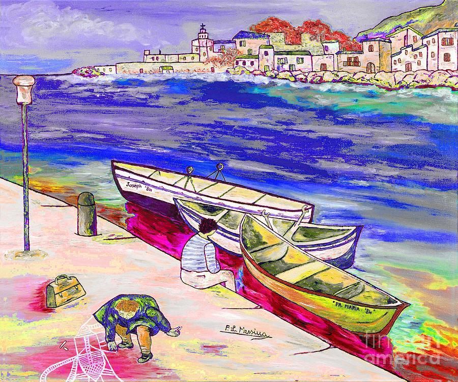 Mixed Media Painting - Infanzia Spensierata by Loredana Messina