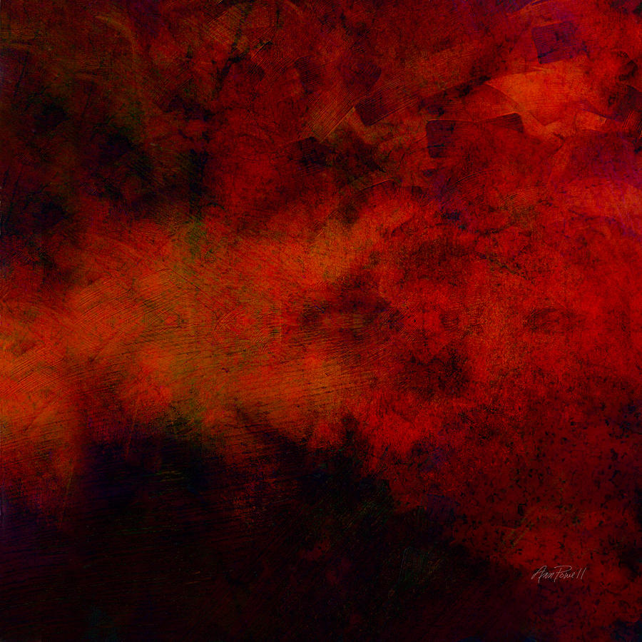 Abstract Digital Art - Inferno - Abstract - Art  by Ann Powell