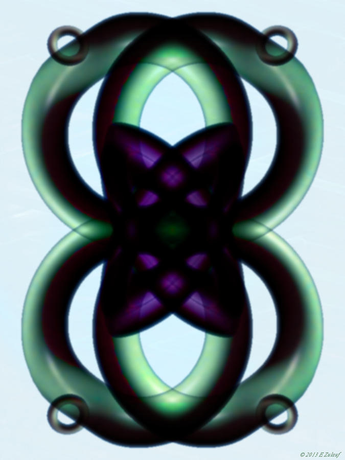 Double Infinity Digital Art - Infinite Harmony by Elizabeth S Zulauf