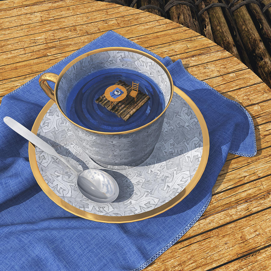 Teacup Digital Art - Infinitea by Cynthia Decker