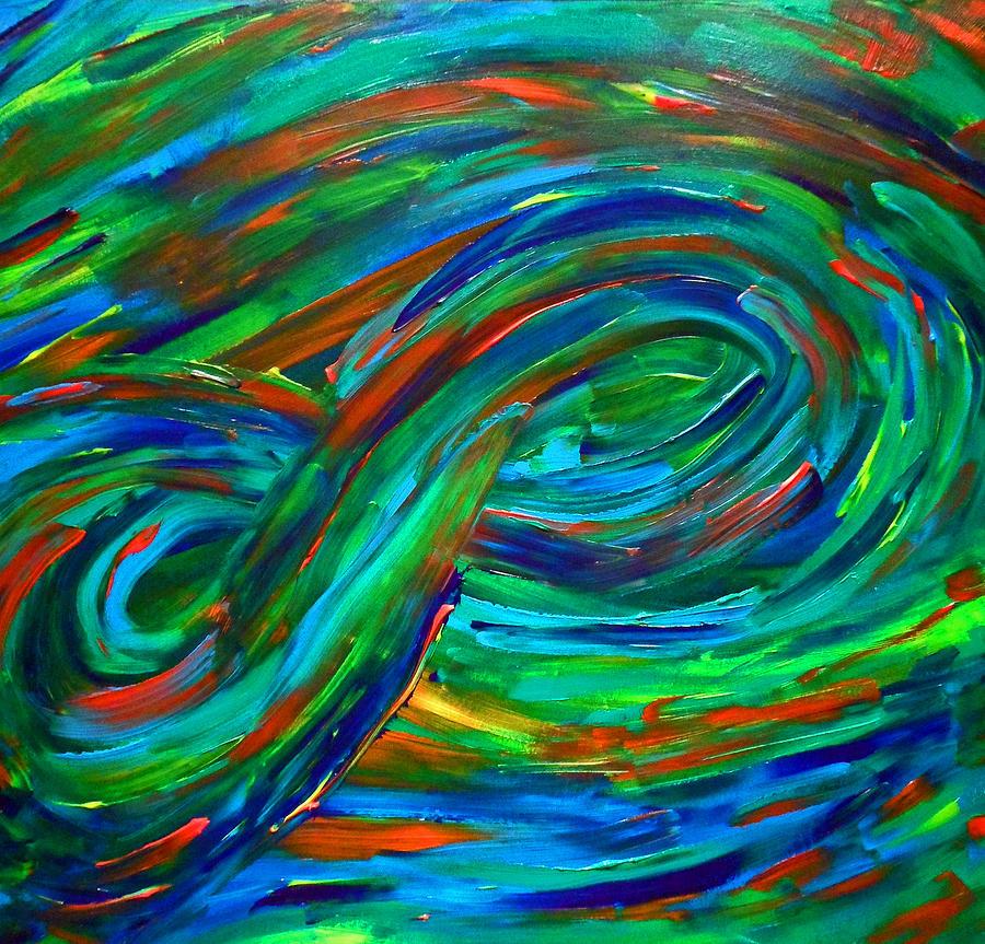Infinity Painting - Infinity by Cyryn Fyrcyd