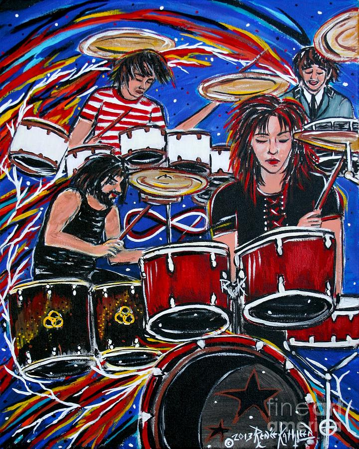 Rock And Roll Painting - Influences by Kath MoonArts
